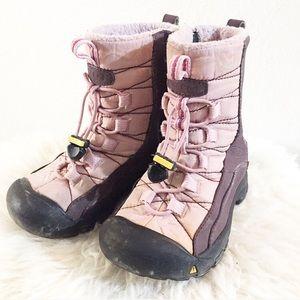 Keen Girls Fleece Lined Winter Boots Size 10